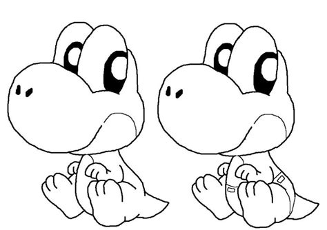11 Baby Yoshi Coloring Pages For Kids Print Color Craft | 11 baby yoshi coloring pages for kids print color craft