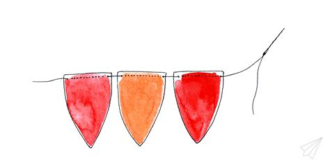 How To Make Paper Bunting Garland - how to make easy paper bunting garland 187 es kaa