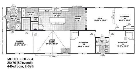 sol wide floorplans mccants mobile homes house plan