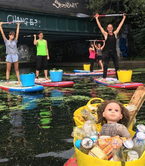 canoes hackney wick paddleboarding lessons while cleaning hackney s canals