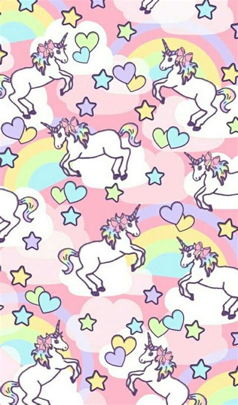 unicorn pattern background unicorn rainbow pattern find more kawaii android