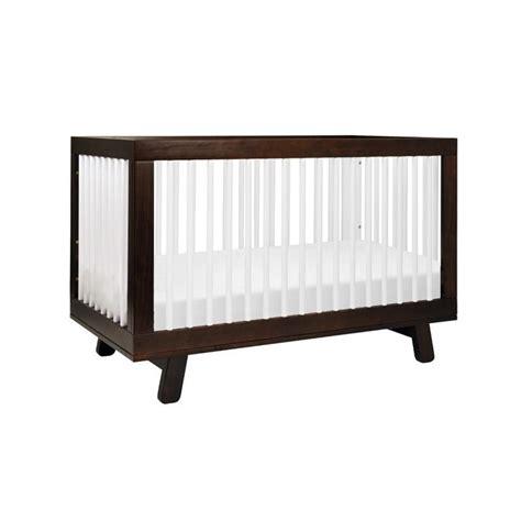 Two Tone Baby Crib Babyletto Hudson 3 In 1 Convertible Two Tone Espresso White Crib Ebay