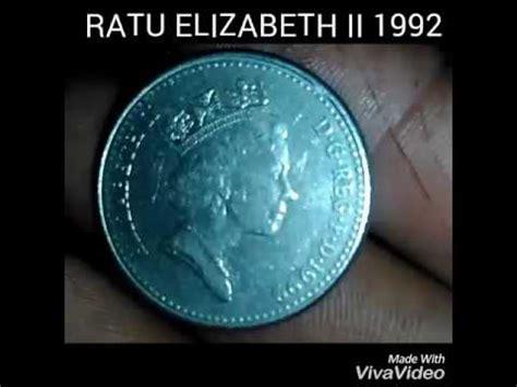 Koin Elizabeth 11 koin kuno bergambar ratu elizabeth ii 1992