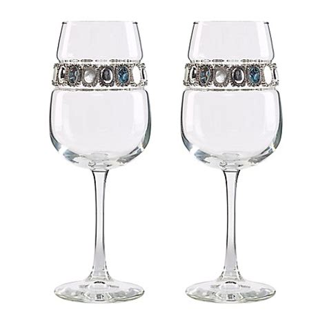 bed bath and beyond wine glasses shimmering wines 174 by stemware designs gemstone wine