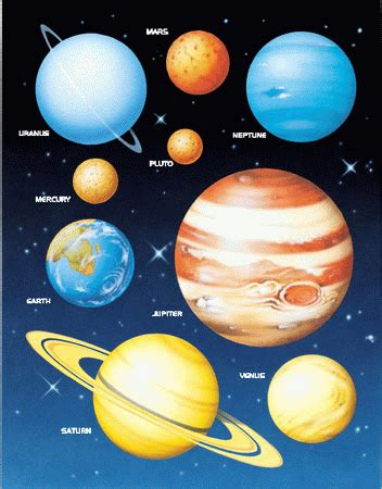 color of the planets colors of the planets in our solar system page 2 pics