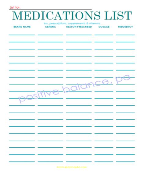 Medication List Card Template by 7 Best Images Of Printable Pocket Medication List My