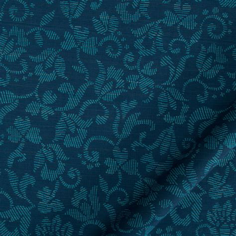 Peacock Blue Upholstery Fabric by Peacock Blue Upholstery Fabric By Popdecorfabrics