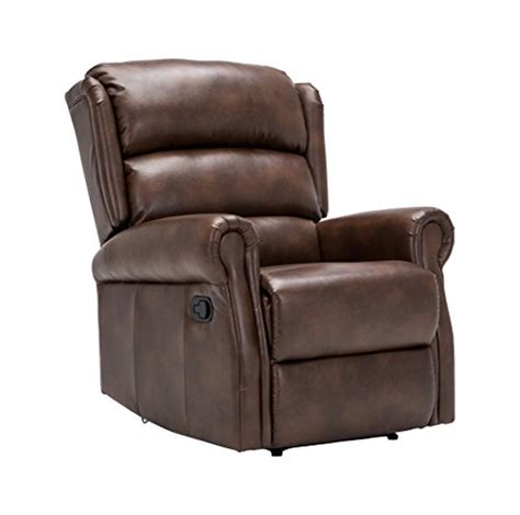 leather reclining chairs uk birlea manhattan faux leather recliner chair bronze brown