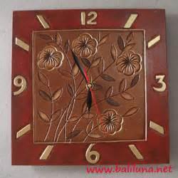 Jam Dinding Kotak Standar souvenir pernikahan jam dinding etnik 01 souvenir pernikahan khas bali