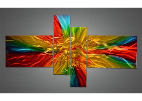 Colorful Wall Decor by Wall Designs Colorful Wall Modern Metal Wall