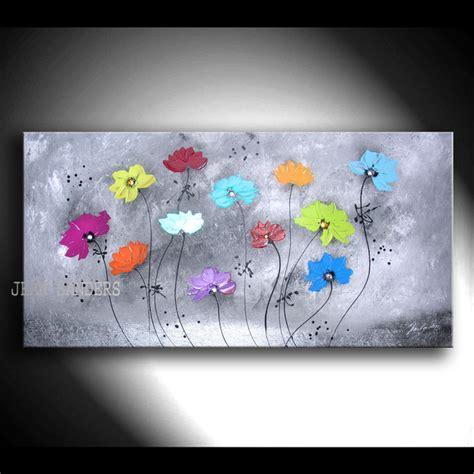 Acrylbilder Vorlagen Modern Acrylmalerei Jean Sanders 120x60cm Blumen Abstrakt Ein Designerst 252 Ck Jeansanders