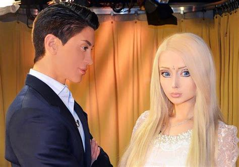 valeria lukyanova and ken meets ken doll for the