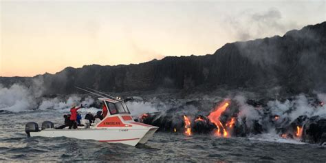 boat tour hawaii lava boat tour hawaii business insider