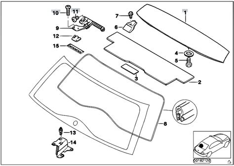 original parts for e46 320d m47n touring bodywork trunk