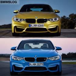 bmw m3 vs bmw m4 photo comparison