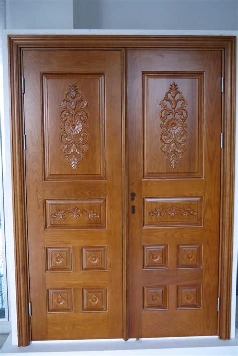 design a door prehung exterior double door wood mahogany panel round top