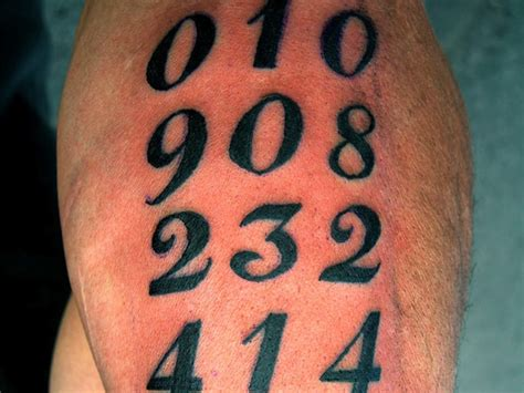 15 mathematical number tattoos tattoo com
