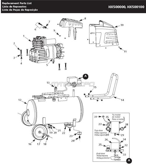 campbell hausfeld hx hx air compressor parts