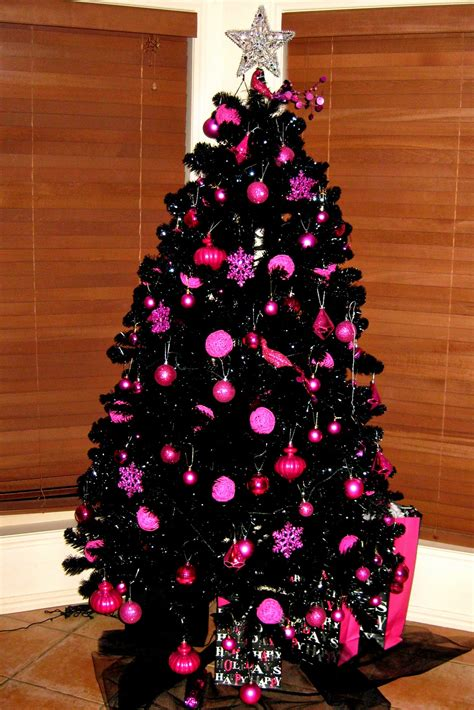hot pink christmas tree decorations christmas decore