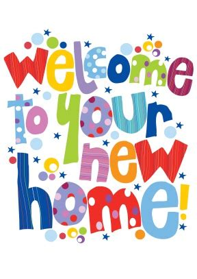 new home greeting card template welcome new home card scribbler cards