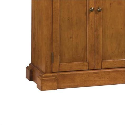 Oak Pantry by Home Styles Kitchen Distressed Oak Finish Pantry Ebay