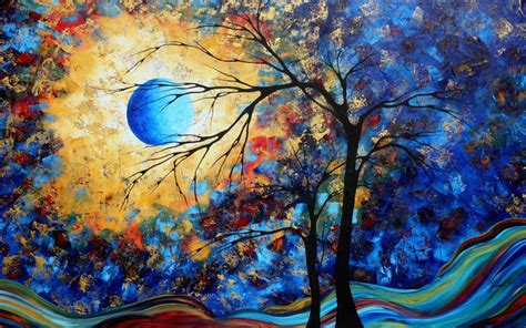 wallpaper blue art wallpapers colorful paintings wallpapers