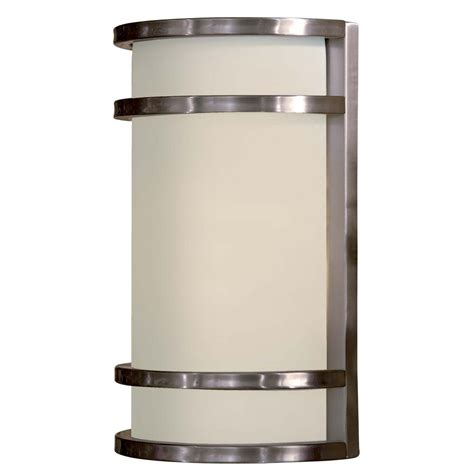 stainless steel outdoor lights modern outdoor wall light with white glass in stainless