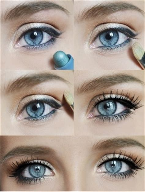 natural everyday makeup tutorial for blue eyes 12 gorgeous blue and gold eye makeup looks and tutorials