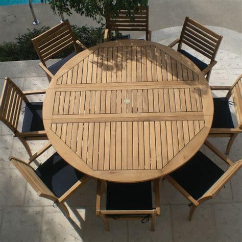 patio table seats 6 royal teak 6 ft drop leaf avant patio dining set