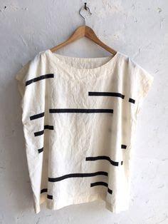 Baju Atasan Blouse Tunik White Stripe Roses S Import Original upcycled tea towel patchwork top shirt linen cotton