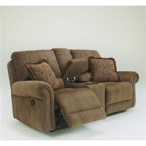 Microfiber Reclining Sofa And Loveseat Signature Design By Furniture Macnair Microfiber Power Reclining Loveseat In Umber