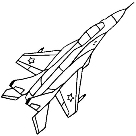 coloring page jet free coloring pages of plane outline