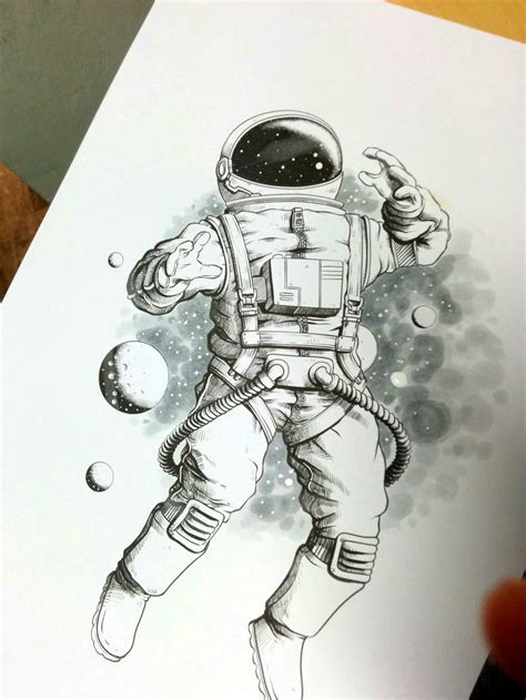 astronaut drawing www pixshark com images galleries