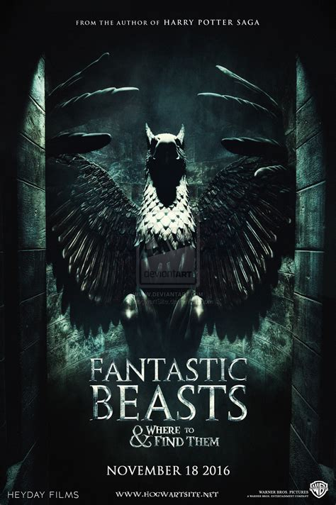 fantastic beasts and where to find them fantastic beasts and where to find them poster by hogwartsite on deviantart