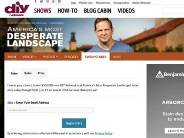 Diy Desperate Landscape Sweepstakes - diy network america s most desperate landscape giveaway sweepstakes