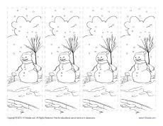 printable snowman bookmarks to color free printable bookmarks for kids ice cream free