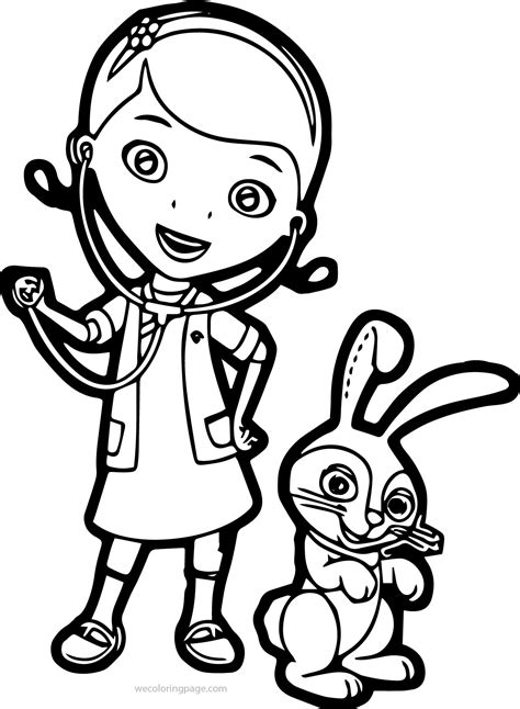 coloring pages for veterinarian doc mcstuffin coloring pages
