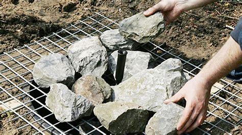 gartenbrunnen selber bauen stein springbrunnen bauen