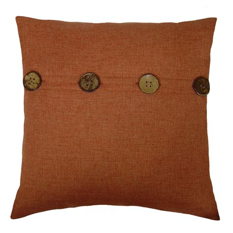 decorative buttons for pillows jaclyn smith faux linen decorative pillow with button