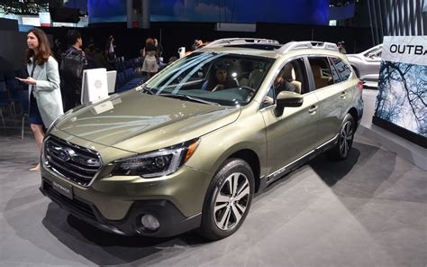 green subaru outback 2018 2018 subaru outback subtle changes the car guide