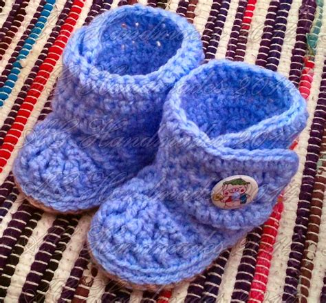 crochet pattern little blue baby booties ag handmades bryce baby booties