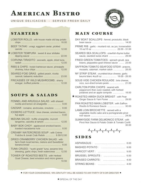 bistro menu template menupro 183 menu design sles from menupro menu software