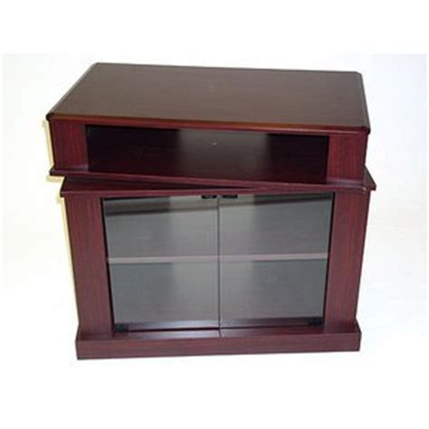 swivel top tv stand media cabinet amazon com cherry tv stand with swivel top for tvs up to