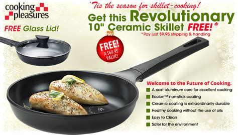 10 Ceramic Skillet With Lid by Free 10 Quot Ceramic Skillet With Glass Lid And Kitchen Shears