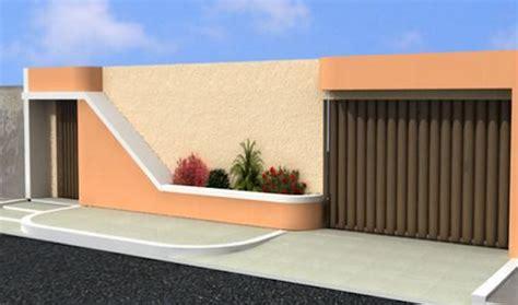 fachadas de muros simples e bonitos