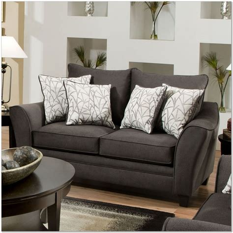 Simmons Flannel Charcoal Sofa Sofas Wonderful Simmons