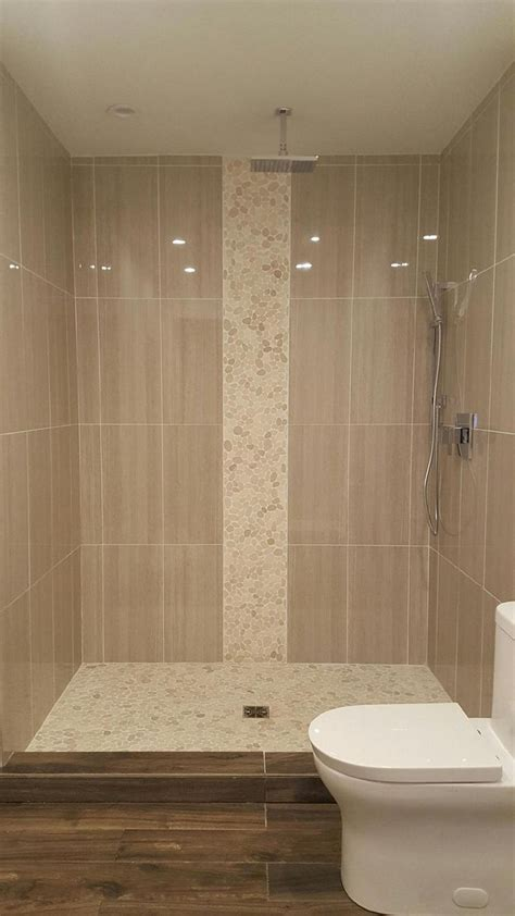 shower accent tile stylish vertical tile in shower design ideas