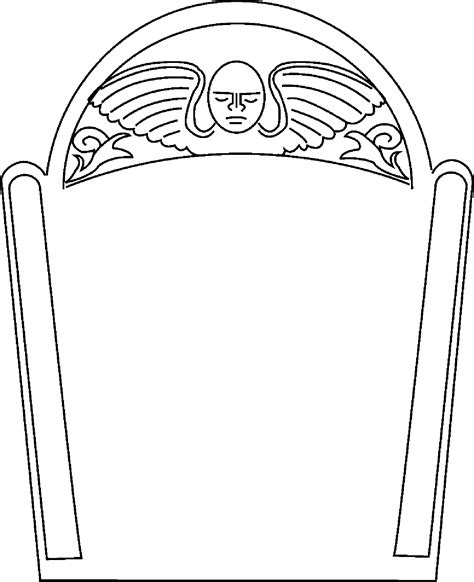 tombstone templates for gravestone template cliparts co
