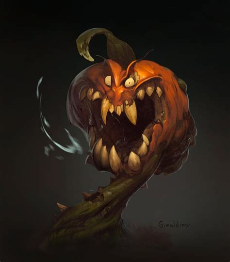 Evil Pumpkin Drawings