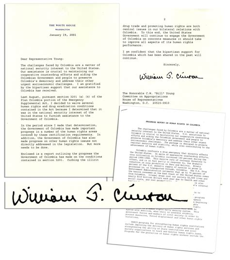 bill clinton s full name lot detail bill clinton typed letter signed as president